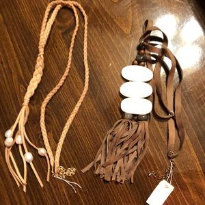 2 Necklaces - never worn, one has tag